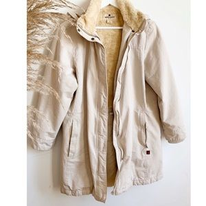 Woolrich tan beige winter jacket